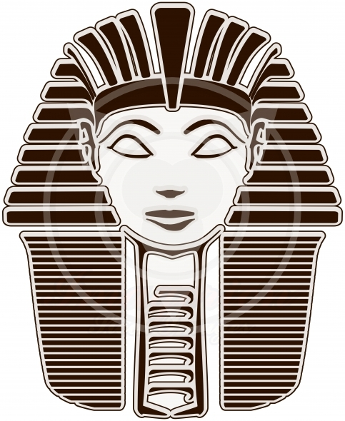 Head of Hatshepsut Pharaoh, outline