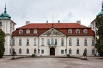 Image of palace. Architecture of Nieborow Palace in Poland