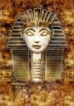 Image of egypt. Sphinx Head – Hatshepsut pharaoh. Vintage style illustration