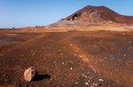 Image of volcano. Calhau Volcano, Cabo Verde, Sao Vicente