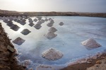 Image of salt. Salt mounds in Africa, Cape Verde, Sal