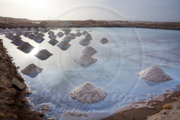 Salt mounds in Africa, Cape Verde, Sal