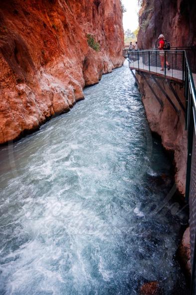 Tourists in Saklikent Canyon