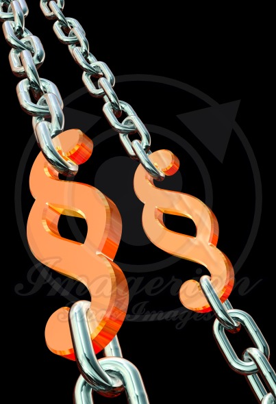 Paragraph symbol, corrupt law chains