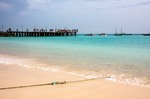 Image of beach. Santa Maria beach on Sal Island of Cape Verde