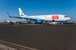 Image of Boeing. TACV air lines Boeing 737-800