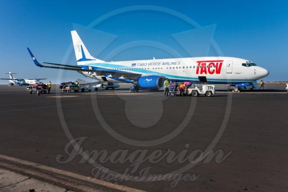 TACV air lines Boeing 737-800