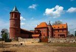 Image of castle. Gothic castle in Tykocin