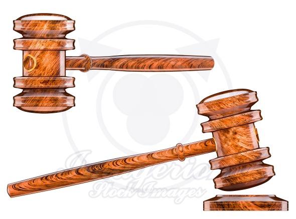 Hammer down, auction symbol