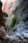 Image of canyon. Tourists in mountains of Saklikent Canyon, Mugla
