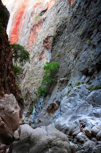 Tourists in mountains of Saklikent Canyon, Mugla