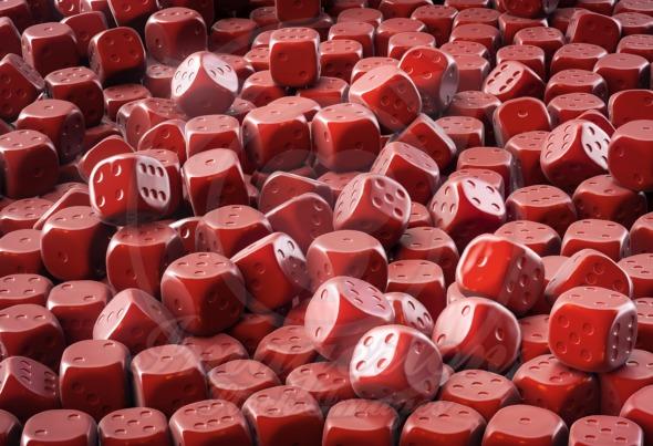 Chocolate dice pile