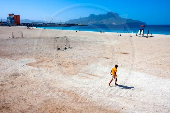 Beach of Praia da Laginha, Mindelo