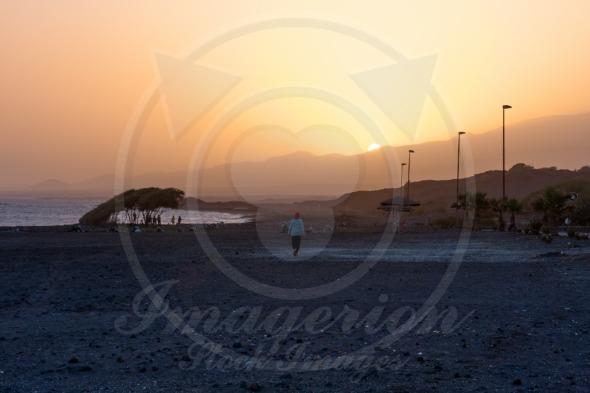 Amazing sunset in Porto Novo, Cape Verde