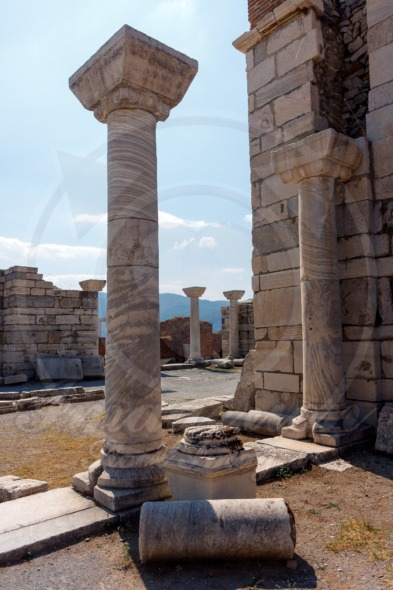 Ancient Columns in Church in Selcuk