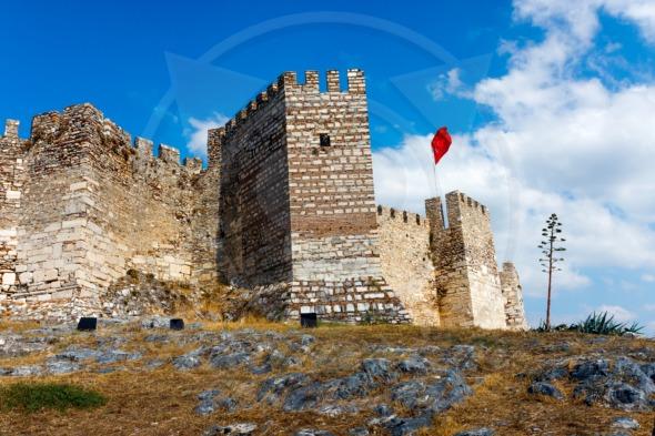 Ayasoluk Castle in Selcuk. Turkey