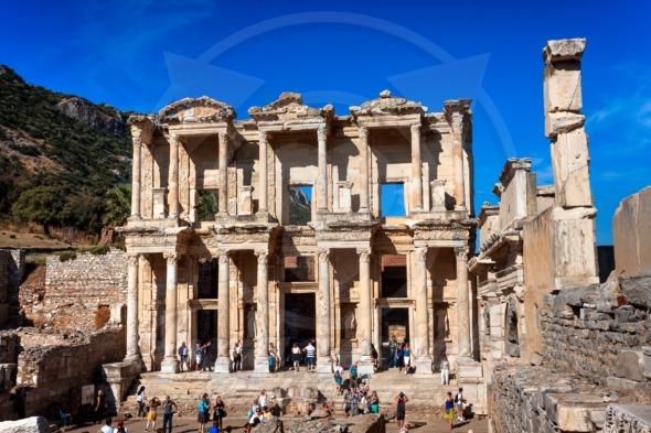Ephesus, popular tourists attraction in Turkey