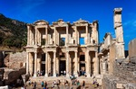 Image of Efes. Ephesus, popular tourists attraction in Turkey