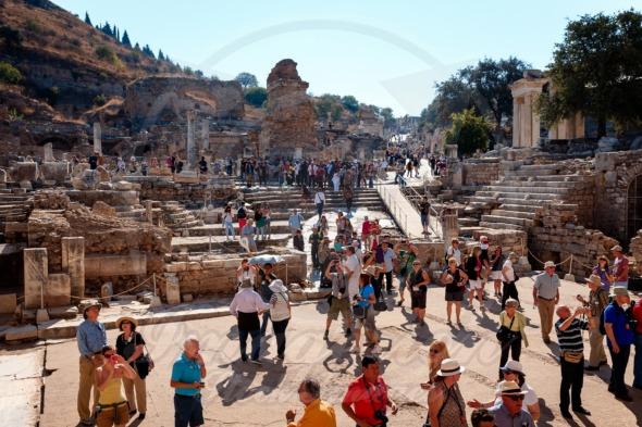 So many tourists visiting Ephesus