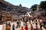 Image of tourist. So many tourists visiting Ephesus