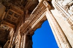Image of Efes. Library of Celsus in Ephesus, stone windows and walls
