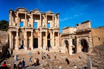 Image of library. Ephesus, Library of Celsus and Gate of Augustus