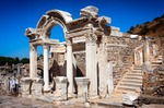 Image of Hadrian. Temple of Hadrian in Ephesus