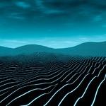 Image of wavy. Scifi landscape Linear Planet