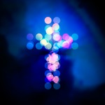 Image of cross. Holy cross lights