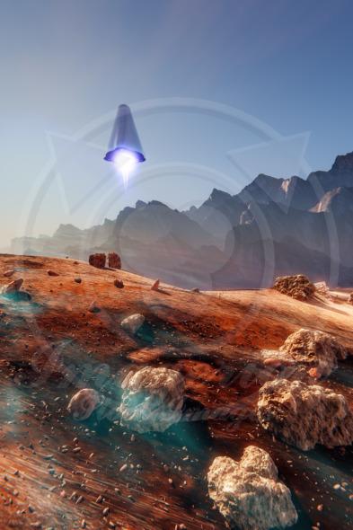 Mars lander spaceship