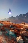 Image of spaceship. Mars lander spaceship