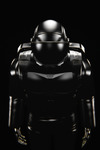 Image of scifi. Black astronaut spacesuit