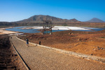 Image of Salinas. Tourists going to float in salt water ponds, Cape Verde