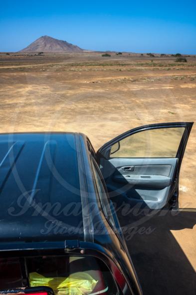 Traveling desert by car, Cape Verde
