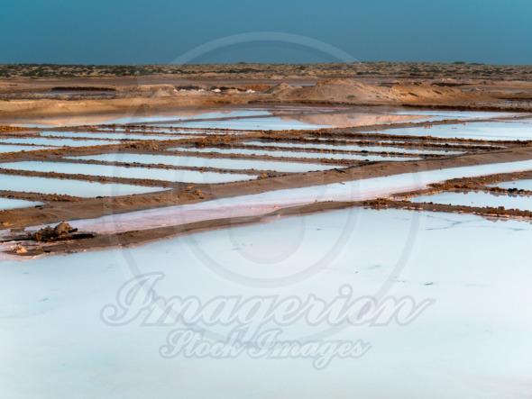 Salt source evaporation ponds, Cape Verde