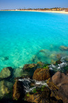 Image of turquoise. Turquoise ocean waters, Cape Verde