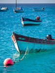 Image of boat. Fishing boats anchored in Cape Verde