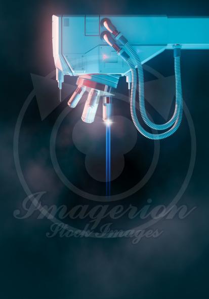 Microscope laser beam
