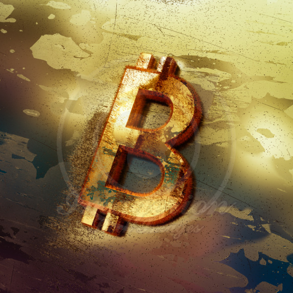 Bitcoin crypto currency crackdown threat symbol