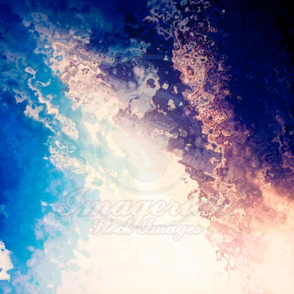 Bright light splash blue sky background