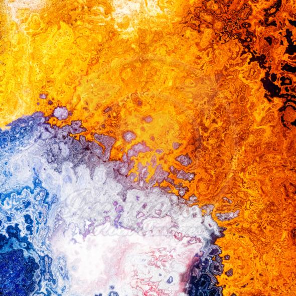 Silver gold liquid blend layers illustration