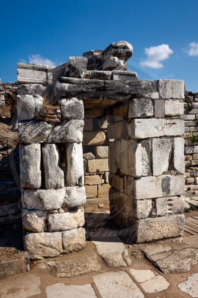 Stone gate, archeological fragment of Basilica of St. John in  Ephesus
