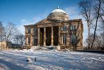 Image of Warsaw. Krolikarnia Palace in Warsaw in winter