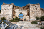 Image of temple. Selcuk church entrance walls of Basilica of St. John, Turkey