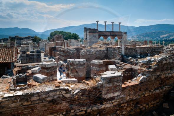 Basilica of St. John  the Apostle, ruins in Selcuk, Turkey
