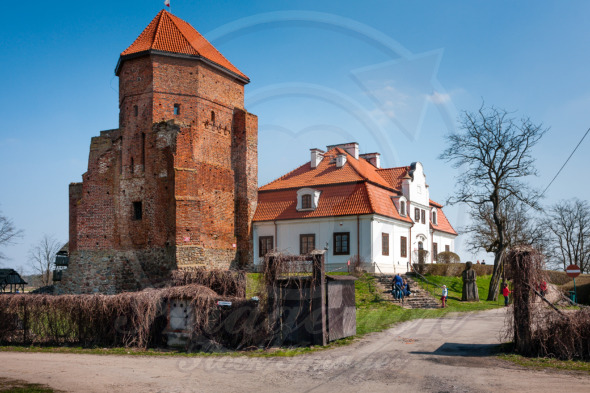Medieval Castle in Liw Town, Poland