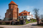 Image of castle. Medieval Castle in Liw Town, Poland