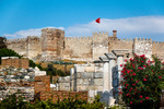 Image of fortress. Castle in Selcuk on the Ayasuluk hill. Turkey