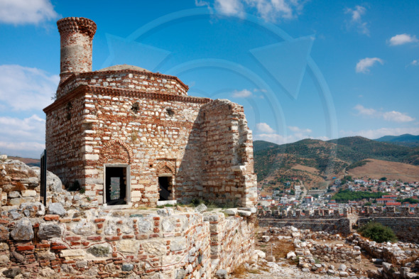 Ancient architecture of the Ayasuluk Castle in Selcuk. Turkey