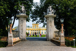 Image of Wilanow. Wilanow Royal Palace park main entrance gate